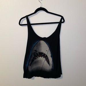 Shark graphic tee tank top